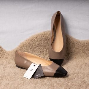 Zara Color-Block Ballet Flats (New with Tags)